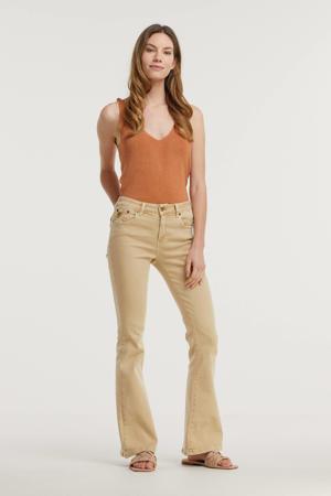 high waist flared broek 2007 Raval-16 6455 Gretel Leg beige