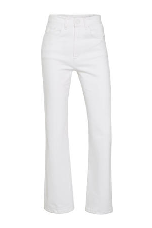 high waist straight fit jeans 2628 River 6386 Nicci White rinse