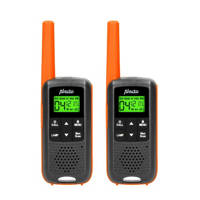 Alecto FR-225 Set van twee walkie talkies - zwart, Zwart, Oranje