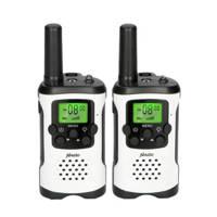 Alecto FR-175 Set van twee walkie talkies - zwart, Wit, zwart