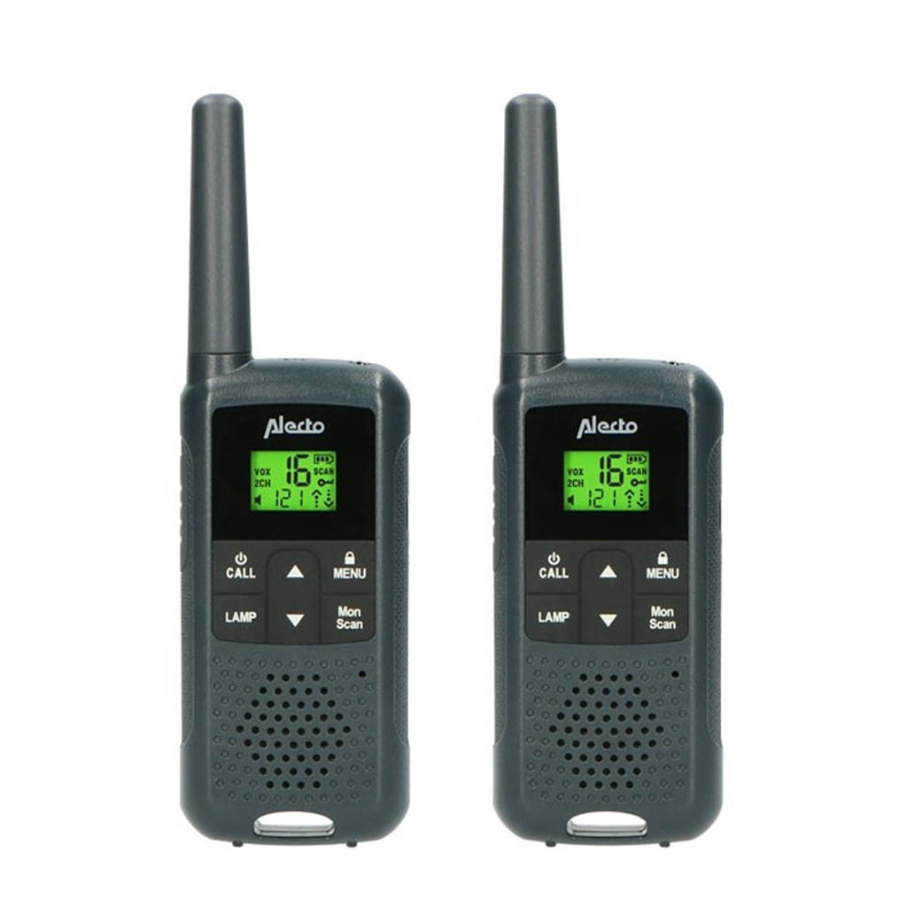 Alecto FR-135 Set van twee robuuste walkie talkies - zwart, Zwart