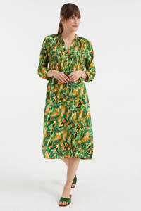 WE Fashion jurk met bladprint multi, Multi