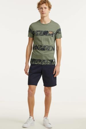 gestreept T-shirt Tuesday grijsgroen