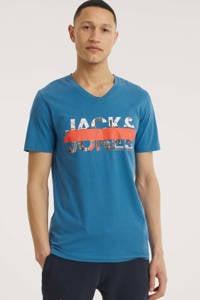 JACK & JONES ORIGINALS T-shirt Tapo met logo blauw, Blauw