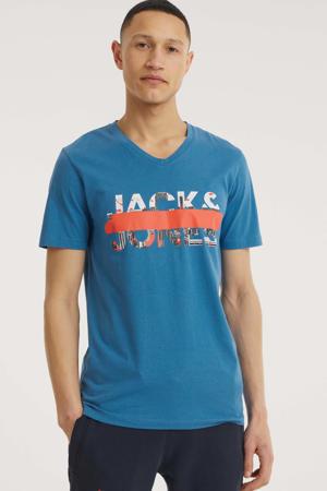 T-shirt Tapo met logo blauw