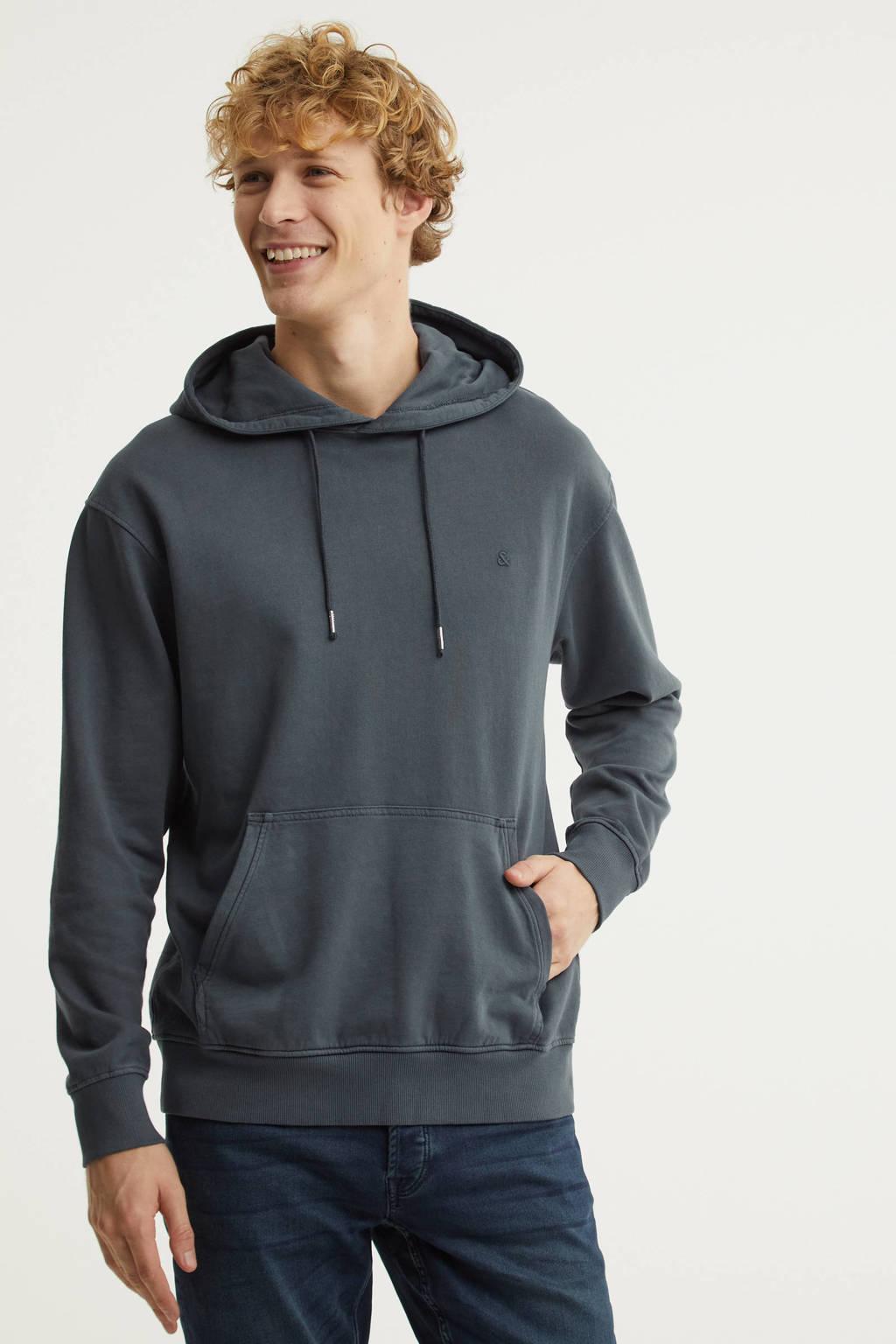 JACK & JONES ESSENTIALS hoodie donkerblauw, Donkerblauw