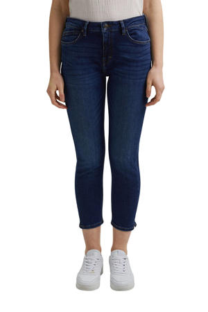 cropped slim fit jeans dark denim