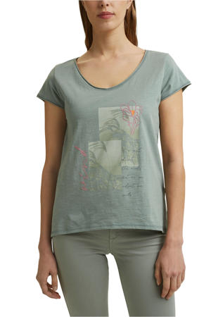 T-shirt van biologisch katoen groen