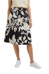 ESPRIT Women Collection rok met all over print en plooien ecru/zwart, Ecru/zwart