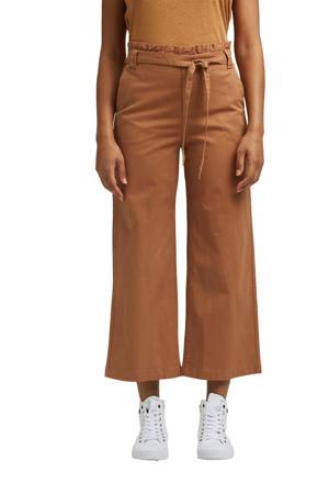 high waist culotte bruin