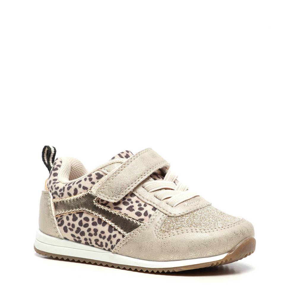 Scapino Blue Box   sneakers met panterprint goud, Goud/bruin