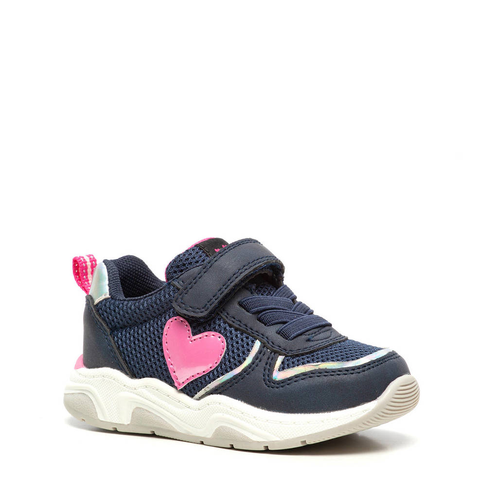 Scapino Blue Box   sneakers donkerblauw, Donkerblauw/roze