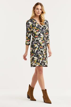 jurk met all over print groen/multi