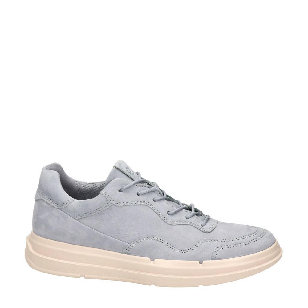 Ecco Soft X  nubuck sneakers grijsblauw, Grijsblauw