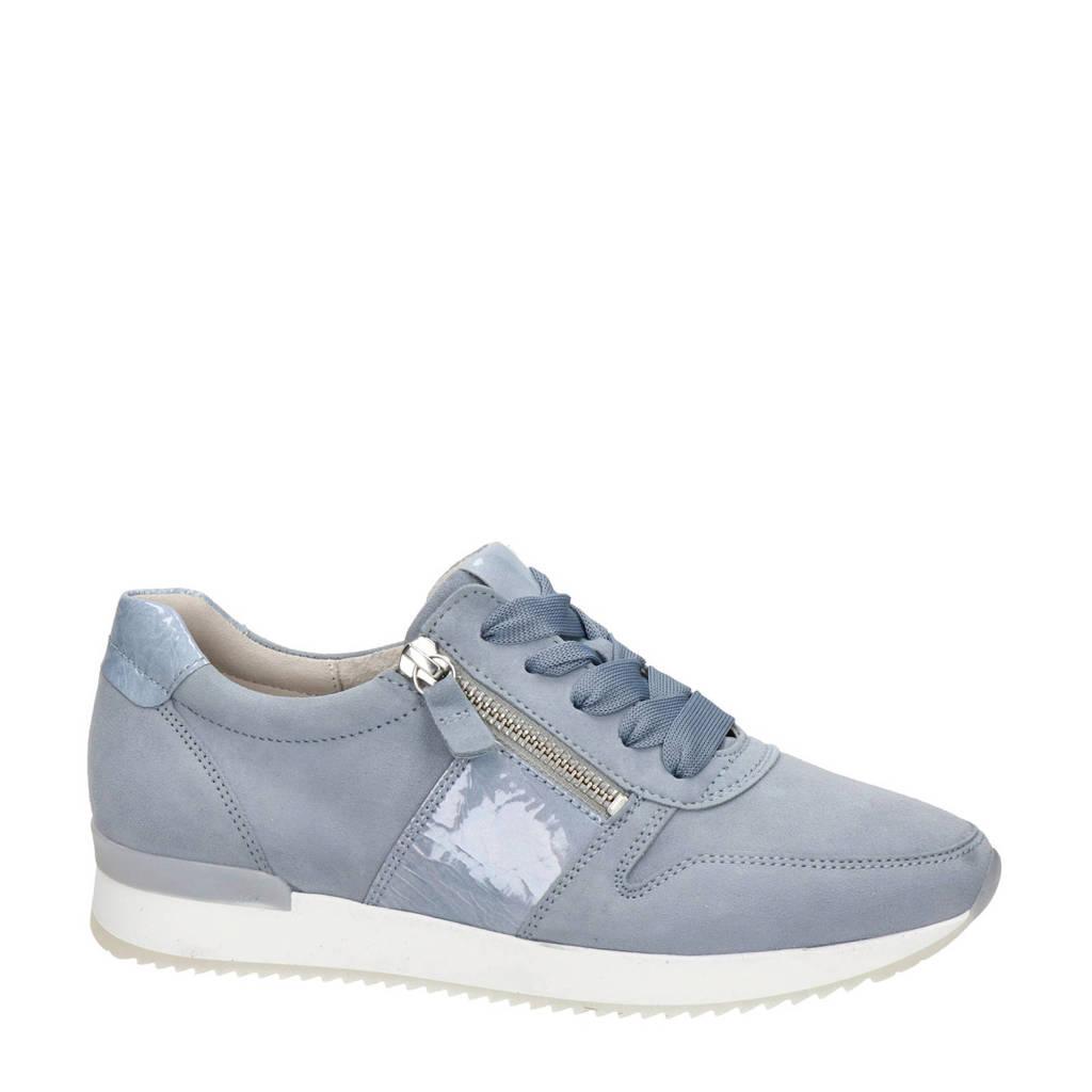 Gabor   suède sneakers lichtblauw, Lichtblauw