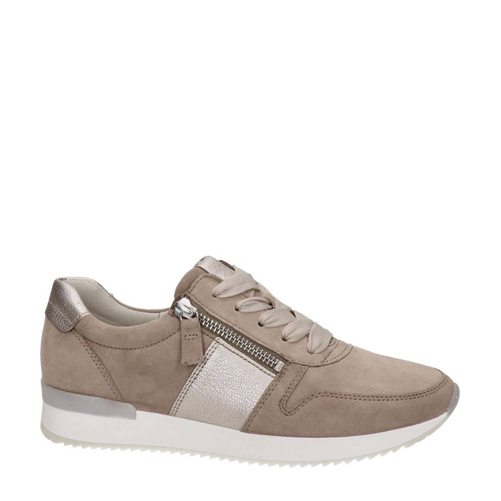 Gabor   suède sneakers taupe, Taupe