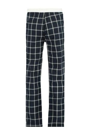 geruite regular fit pyjamabroek Lake donkerblauw/wit