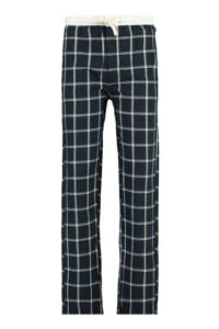 America Today Junior geruite regular fit pyjamabroek Lake donkerblauw/wit, Donkerblauw/wit