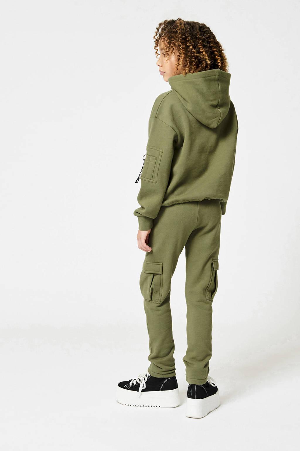 CoolCat Junior joggingbroek Cara met printopdruk groen, Groen