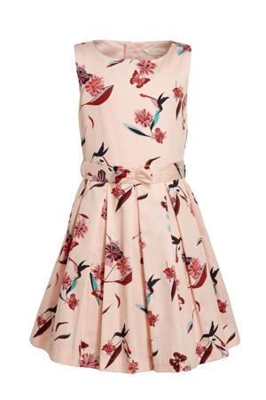 gebloemde jurk roze