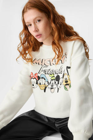 Disney sweater met printopdruk ecru/multi