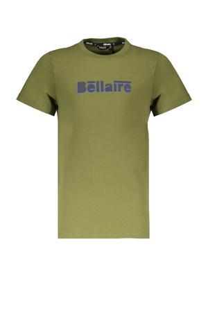T-shirt Kurt met logo olijfgroen