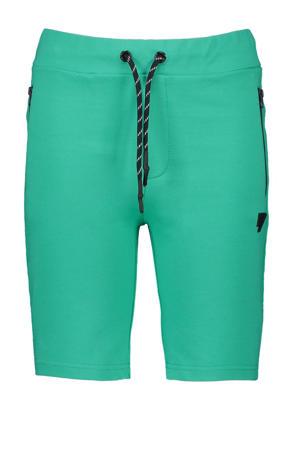 slim fit sweatshort Shine groen/zwart/wit