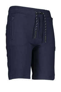 Bellaire slim fit sweatshort Shine donkerblauw, Donkerblauw