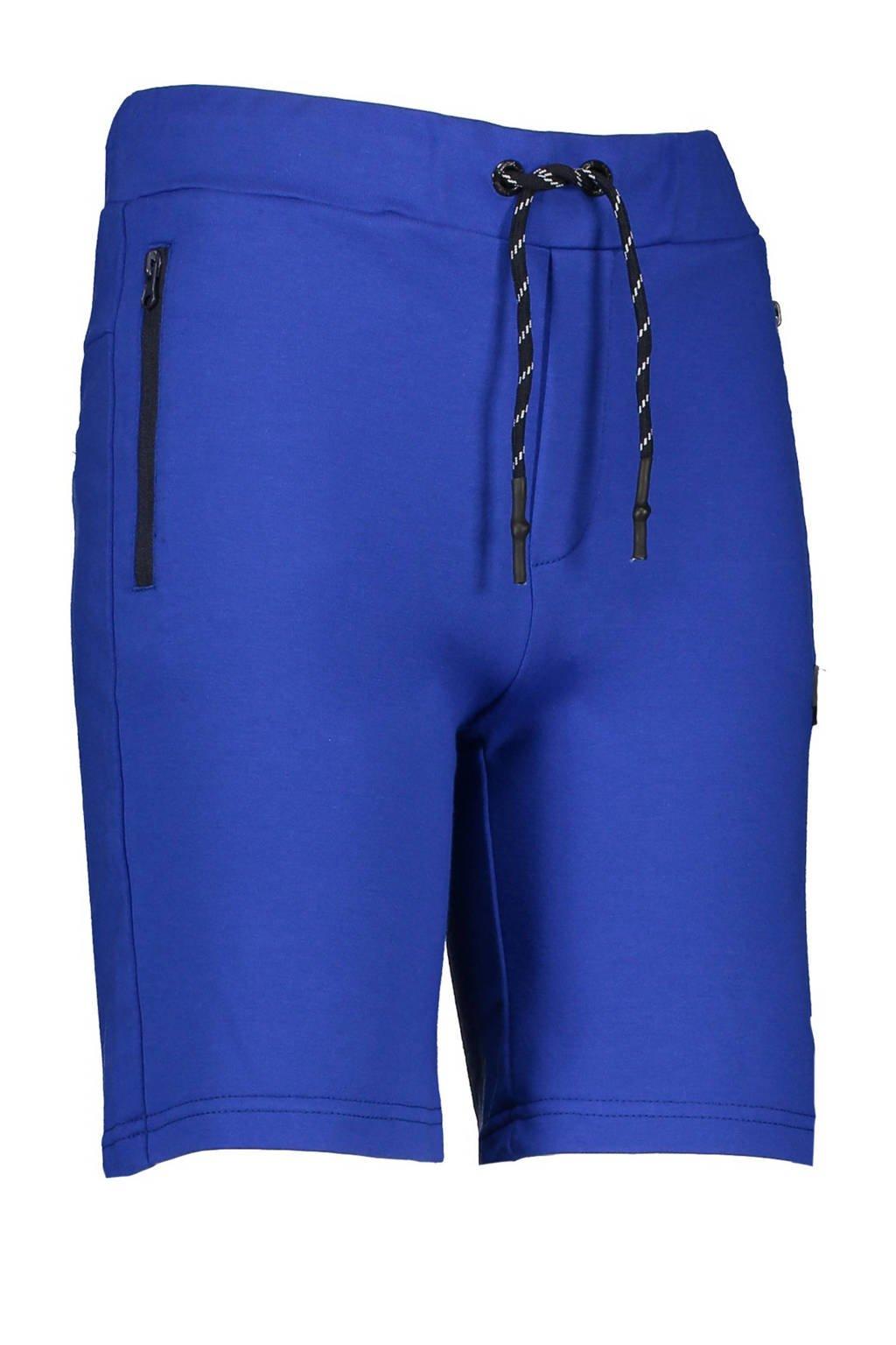 Bellaire slim fit sweatshort Shine blauw, Blauw