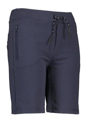 slim fit bermuda Shiny met stippen donkerblauw/wit