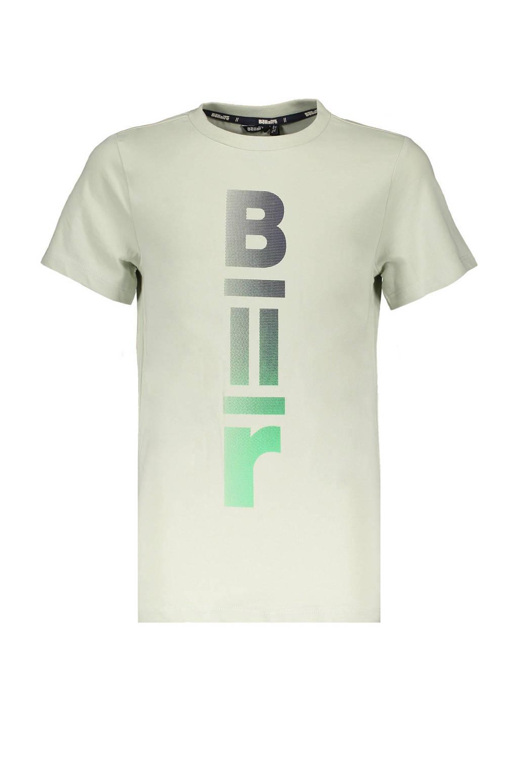 Bellaire T-shirt Kurt met logo lichtgroen, Lichtgroen