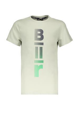 T-shirt Kurt met logo lichtgroen