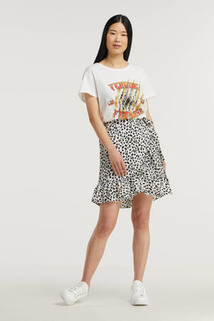 T-shirt JDYGLITTER  met printopdruk wit
