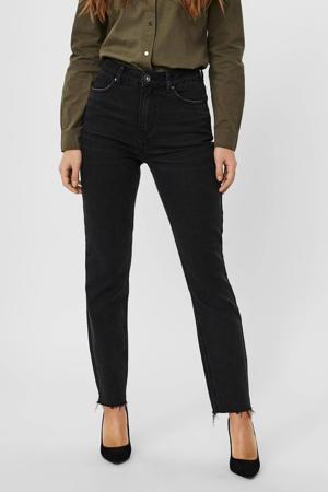 high waist straight fit jeans VMBRENDA met biologisch katoen zwart
