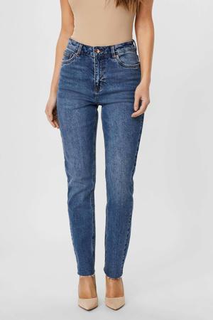high waist straight fit jeans VMBRENDA medium blue denim