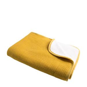gebreide baby ledikantdeken Pique knit 100x150 cm oker