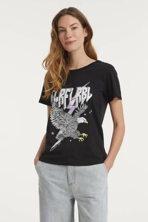 T-shirt Clrfl Rbl Classic met printopdruk zwart