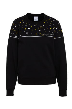 sweater Star met contrastbies zwart