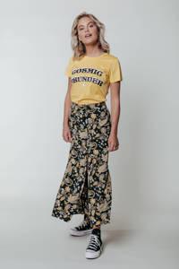 Colourful Rebel T-shirt Cosmic Thunder Classic met biologisch katoen lichtgeel, Lichtgeel