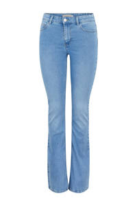 PIECES flared jeans PCPEGGY blauw, Blauw