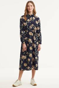 PIECES maxi jurk PCGYLLIAN met all over print zwart, Zwart