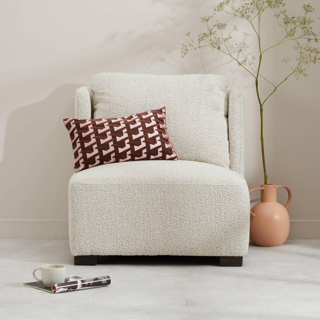 Wehkamp Home fauteuil Nova, Cremewit/ Wit