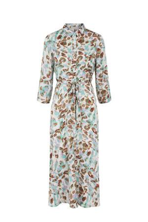 maxi jurk PCRYJA met all over print lichtgroen