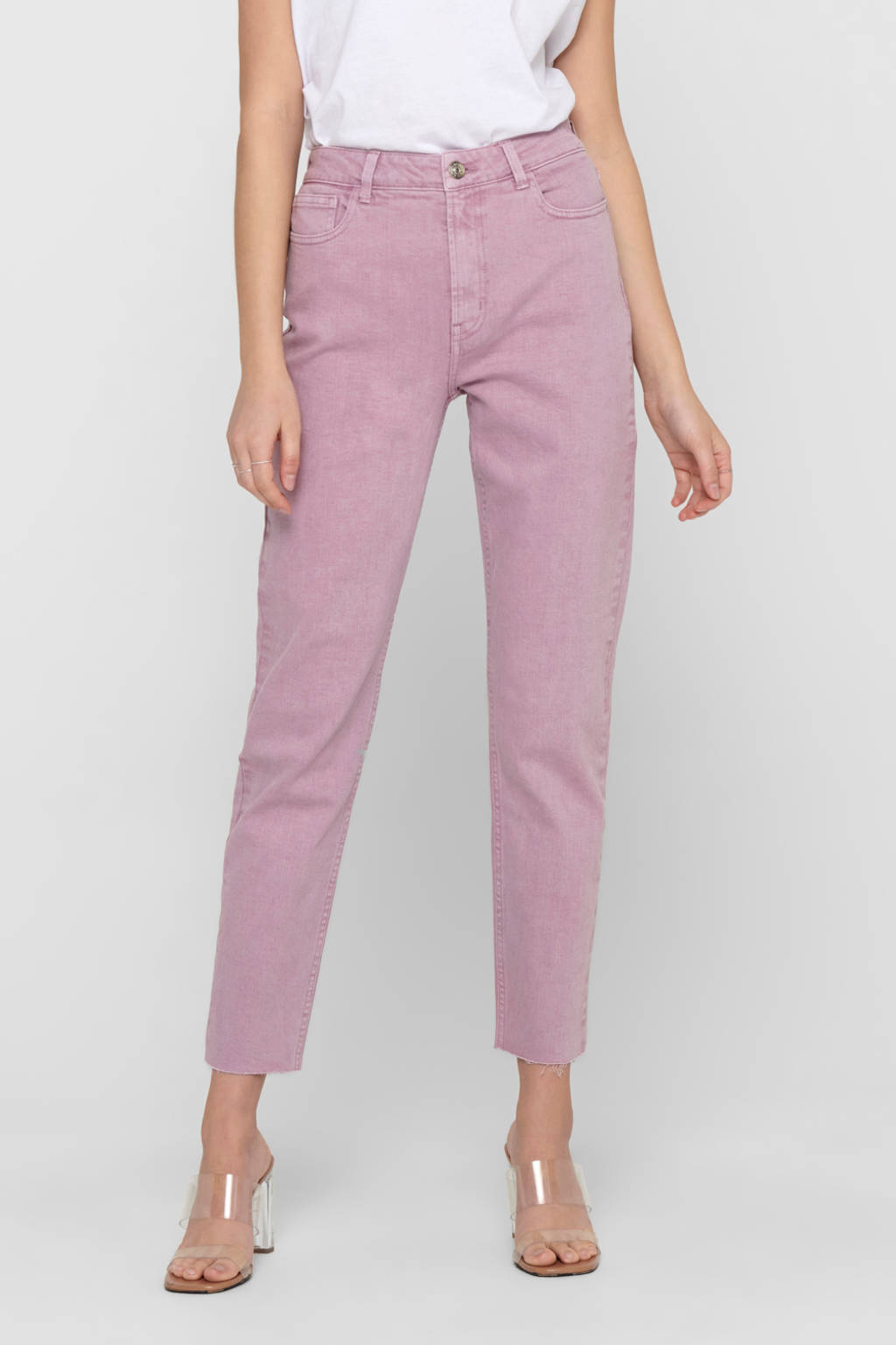 ONLY straight fit jeans ONLEMILY roze, Roze