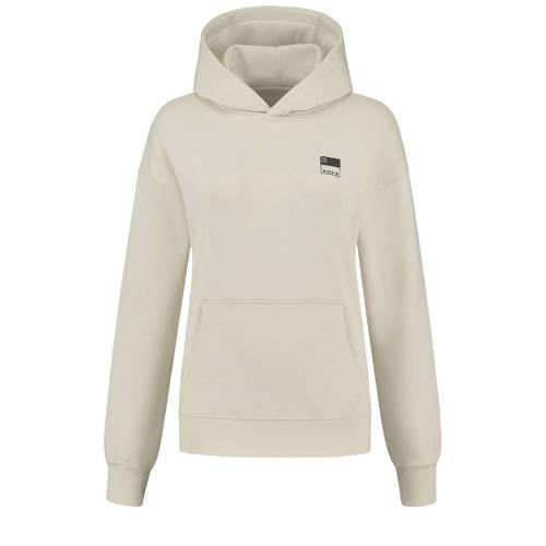 NIKKIE hoodie met logo zand