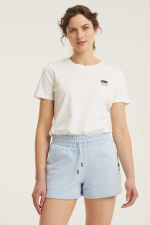 basic T-shirt N met logo wit