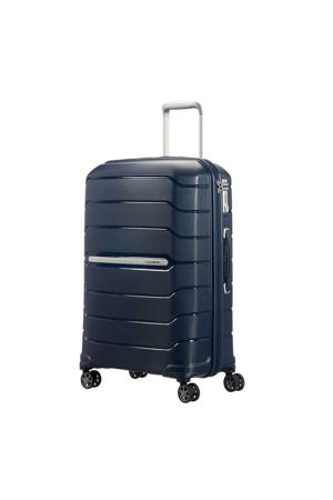trolley Flux Spinner 75 cm. Expandable donkerblauw