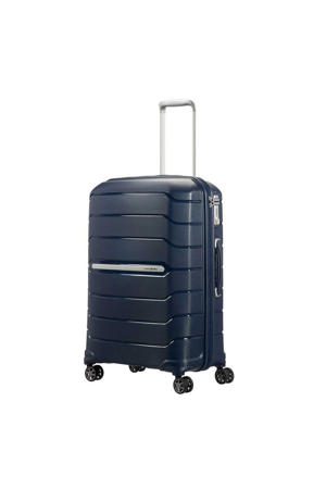 trolley Flux Spinner 68 cm.  Expandable donkerblauw