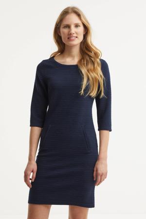 jurk FQDANE-DR-3/4-STRUCTURE donkerblauw