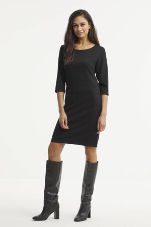 jurk FQDANE-DR-3/4-STRUCTURE zwart